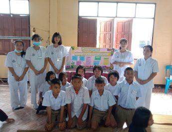 ครู นักเรียน เป็นวิทยากรคุณธรรม ณ อบต.นาเวียง
